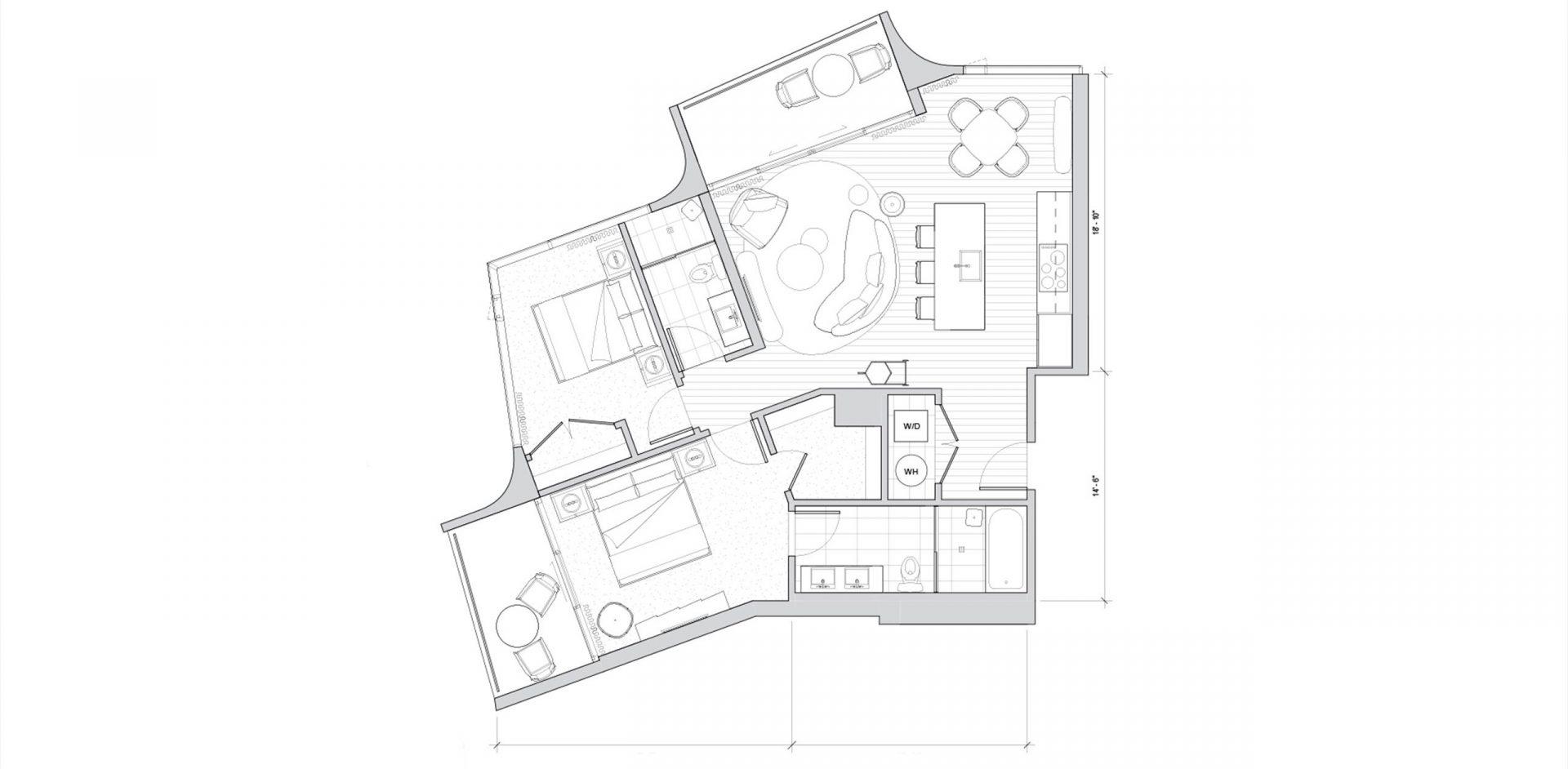 Koula, Ward Village floor plan